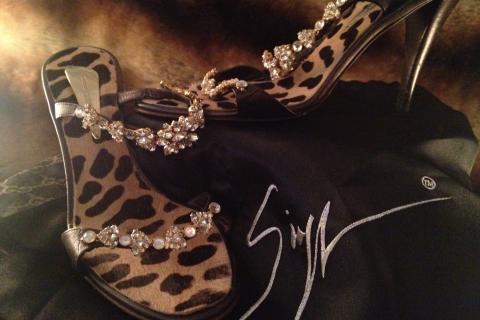 Giuseppe Zanotti Swarovski Crystal Heels, 38  Photo