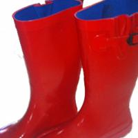 Red Rain Boots  Photo
