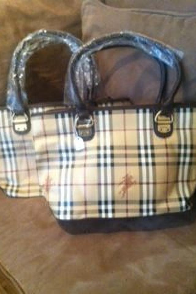 BURBERRY DESIGNER CLASSIC YELLOW PLAID SHOULDER BAG Photo