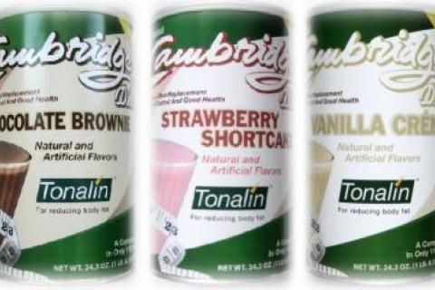 6 Cans ORIGINAL 330 CAMBRIDGE DIET PLAN WEIGHT LOSS SHAKES W/TONALIN Photo
