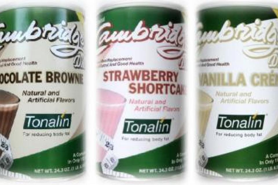 6 Cans ORIGINAL 330 CAMBRIDGE DIET PLAN WEIGHT LOSS SHAKES W/TONALIN Large Photo
