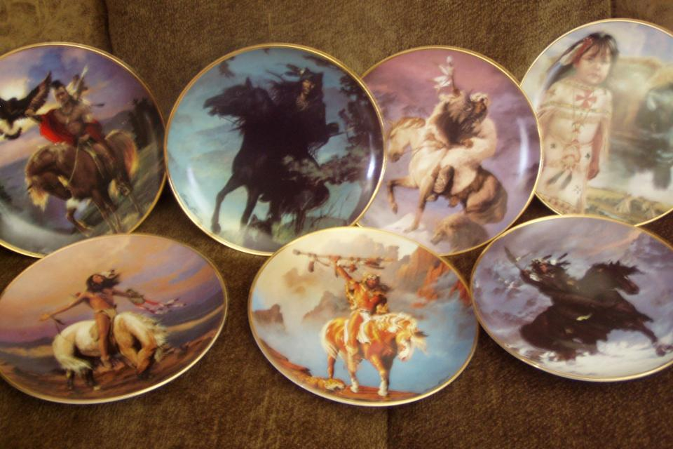 FRANKLIN MINT SPIRIT OF THE WEST INDIAN PLATES Large Photo