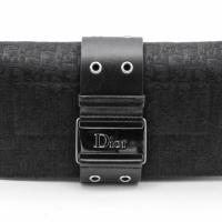 Dior Sparkly Black Monogram & Silver Logo Clutch Photo
