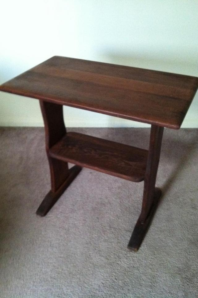 Adorable Wooden School Desk/Side Table/Accent Piece Large Photo