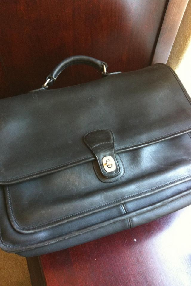 Coach Leather Briefcase  Photo