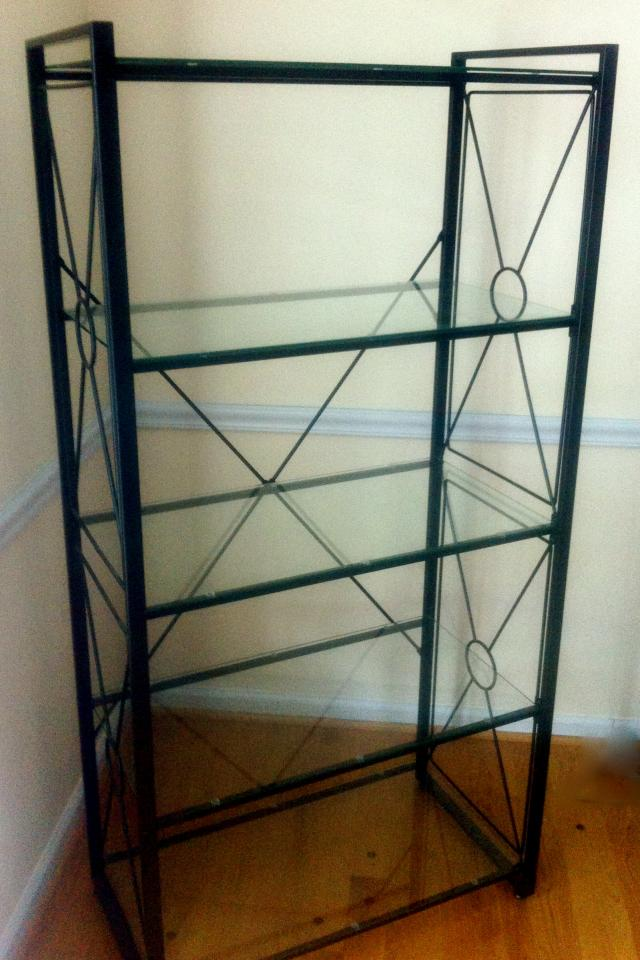 Bookshelves. Metal, wood and glass. 4 & 5 tier Photo