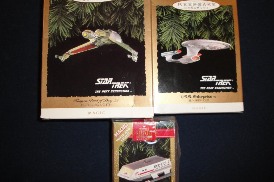 NEW  - Never Used - Star Trek Hallmark Ornaments Large Photo