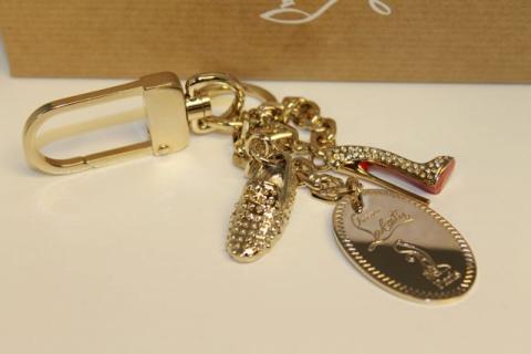 Christian Louboutin 20th Anniversary Light Gold Toned VIP Keychain Photo