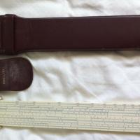 Post Versalog 1460 Slide Rule with case Photo