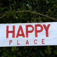 Happy Place Wood Sign (Hollywood) Photo