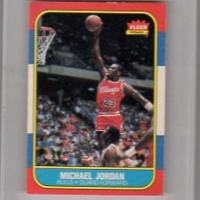 MICHAEL JORDAN CHICAGO BULLS ROOKIE - 1986 FLEER #57 NM Photo