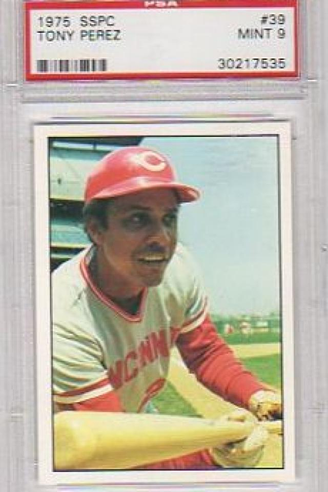 TONY PEREZ CINCINNATI REDS 1975 SSPC #39 PSA GRADED MINT 9 Photo