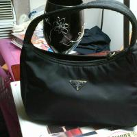 Authentic prada black nylon tessuto hobo bag Photo
