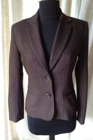 Brown Pinstripe Blazer Photo