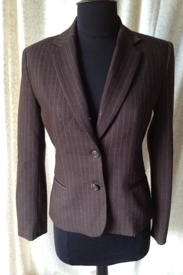 Brown Pinstripe Blazer Large Photo