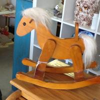 Vintage toy rocking horse Photo