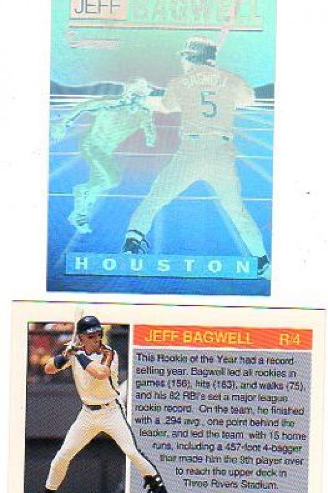 LOT of 20 JEFF BAGWELL ASTROS ROOKIE 1992 MJB HOLOGRAMS #R4 NM-MT = BV $50 Large Photo