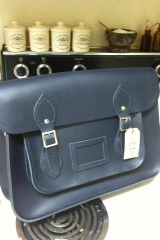 Cambridge Satchel Co. Navy Blue Satchel Brand New! Photo