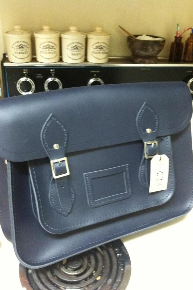 Cambridge Satchel Co. Navy Blue Satchel Brand New! Large Photo