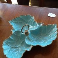 Vintage Green Leaf Candy Bowl Photo