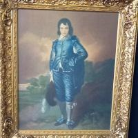 "Vintage Gold Framed ""Blue Boy"" Print Photo"