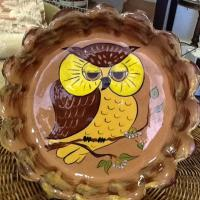 "Vintage Owl 10"" Pie Plate Photo"