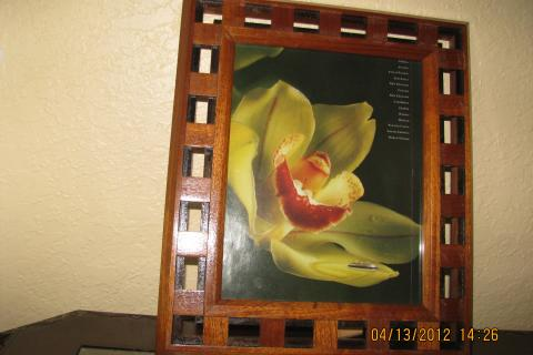 Unique handmade wooden picture frame  Photo