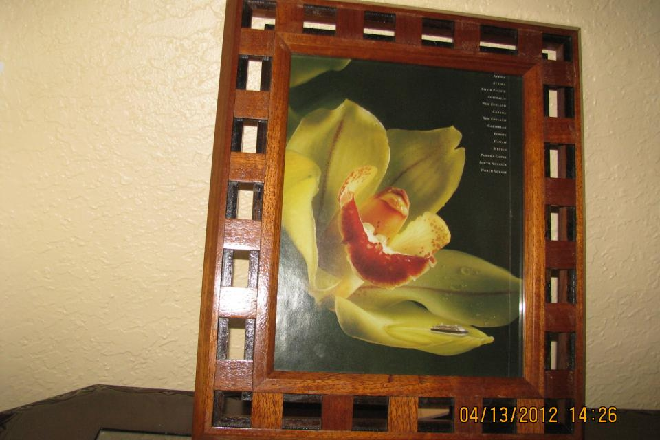 Unique handmade wooden picture frame  Large Photo