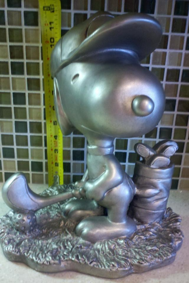 Austin Sculpture Schultz Golfing Snoopy Peanuts Large Photo