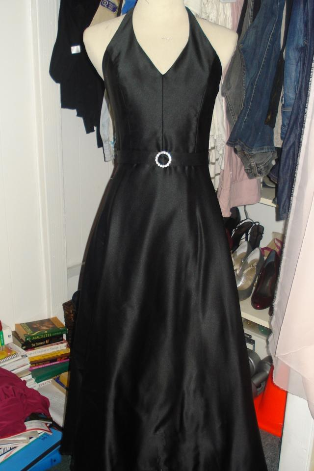 Black vintage inspired halter dress Photo
