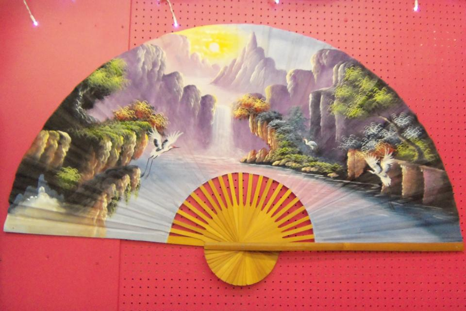 Hand Painted fan Large Photo