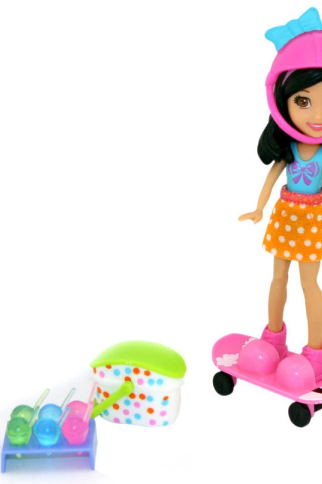 HTF Polly Pocket Crissy Ice Cream Picnic Doll Photo