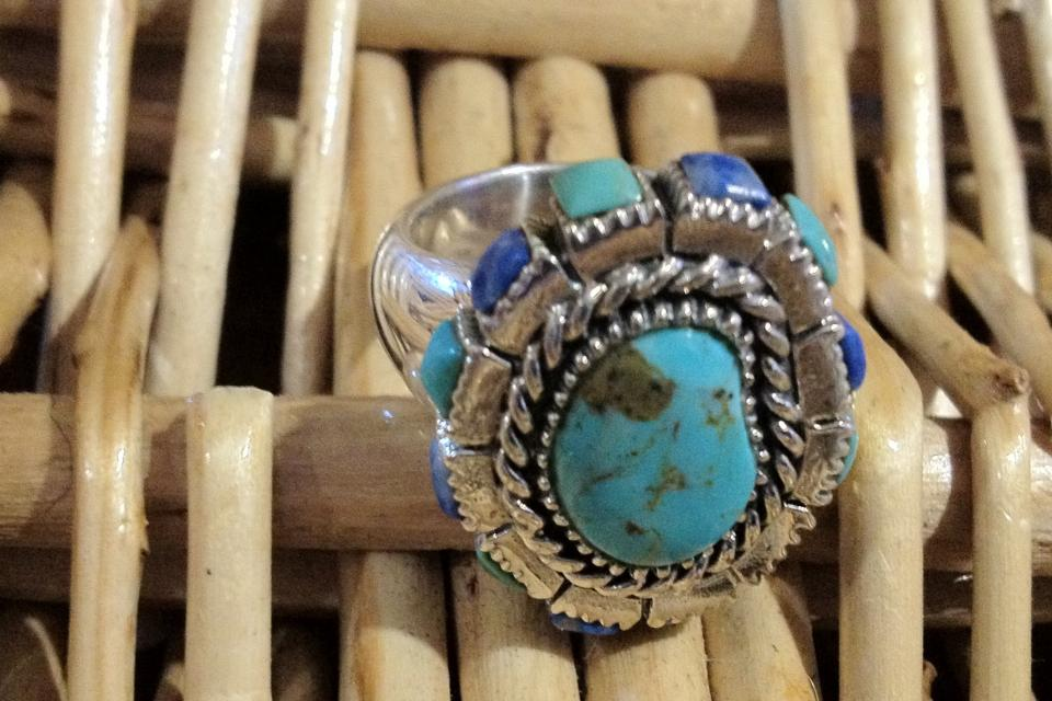 Sterling silver ring, appraised at $695.  Turquoise  Large Photo