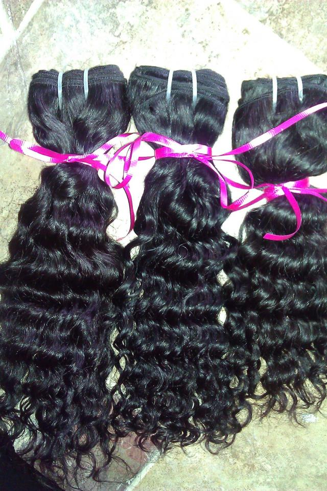 imported virgin remy hair brazilian,peruvian,malaysian 300 grams Large Photo