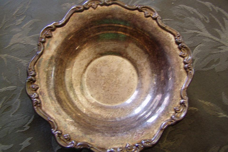 VINTAGE/ ANTIQUE SILVER BOWL/CANDY DISH Large Photo