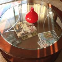 Glass Top Round Coffee Table Photo