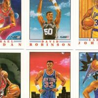 5 COMPLETE SETS - 1991 FLEER PRO-VISIONS ILLUSTRATIONS 6 CARD SETS  Photo