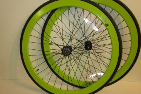 lime green wheelset 43mm Photo