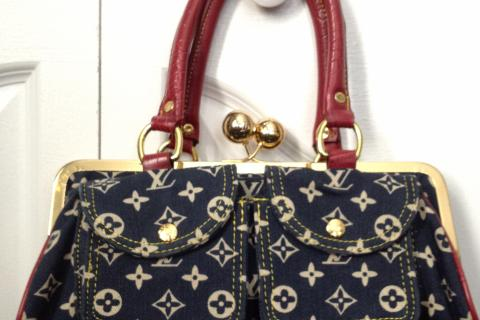 Louis Vuitton Denim Handbag Photo