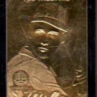 TED WILLIAMS GOLD CARD ENCASED IN BLACK BORDER GOLD SIGNATURE SCREWDOWN Photo