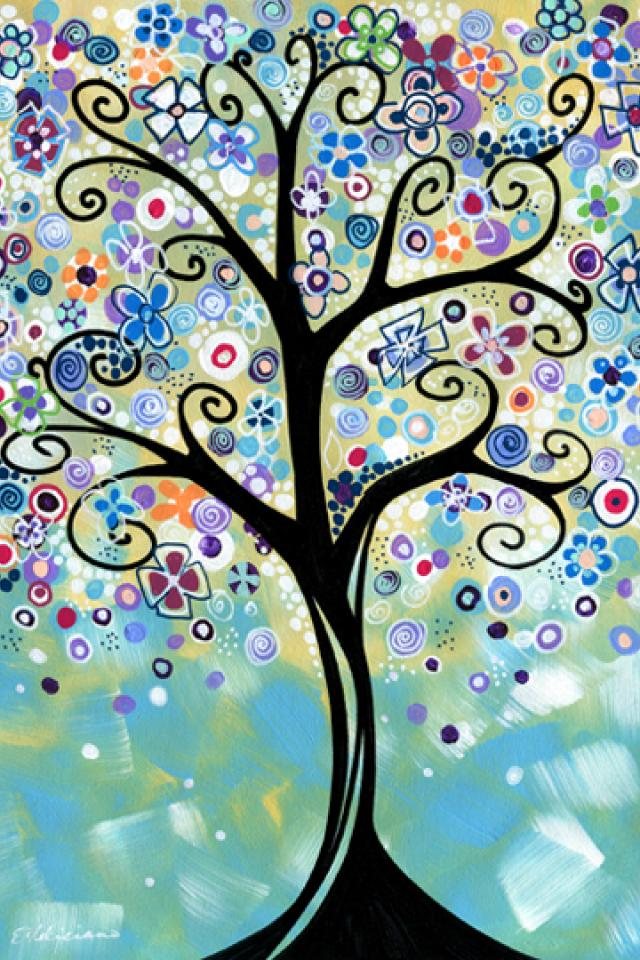 Original Painting Whimsical tree art...