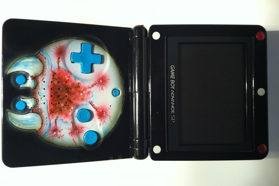 Custom Metroid Gameboy SP Photo