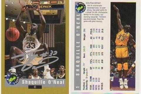 LOT OF 2 SHAQUILLE O'NEAL 1994 CLASSIC SIGNATURE SERIES #SS1 LIMITED  Photo