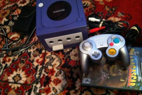 Working GameCube+Madagascar game Photo