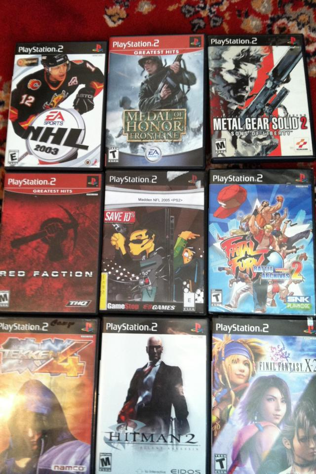 Lot(s) of playstation 2 games Photo