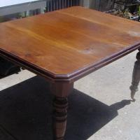 "ANTIQUE FARM TABLE 40"" W X 50""L X 28"" H WALNUT Photo"