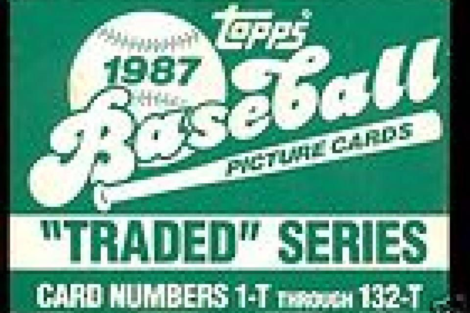 1987 TOPPS TRADED 132 CARD SET WITH GREG MADDUX ROOKIE Large Photo