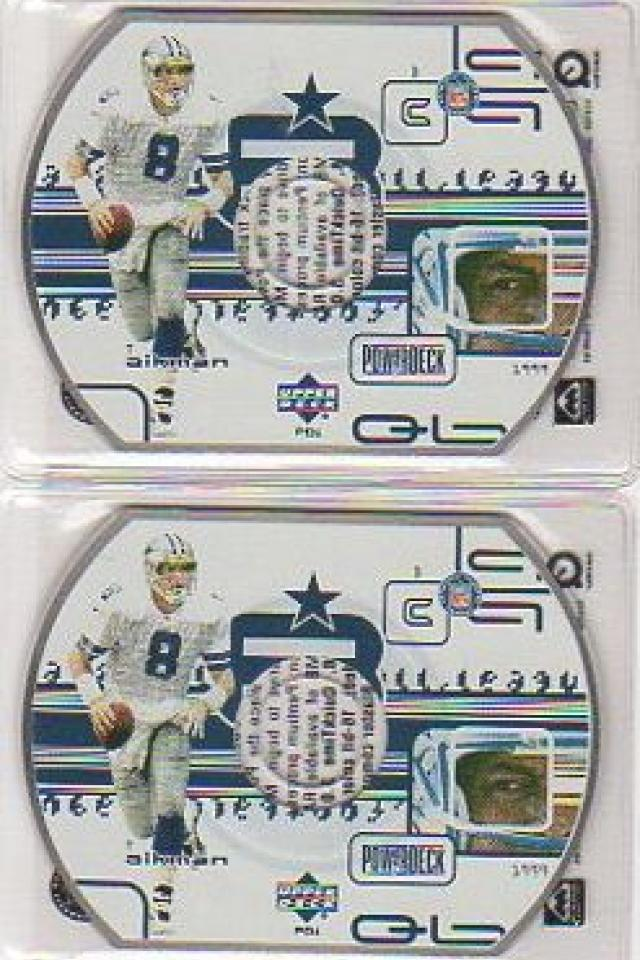 LOT of 5 TROY AIKMAN 2000 UD POWER DECK #PD1 CD DISC  MINT Photo