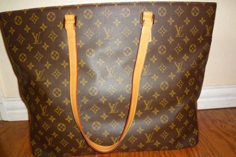 Authentic Louis Vuitton Cabas Alto Monogram Photo