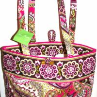 Vera Bradley NWT Tote Very Berry Paisley  Photo